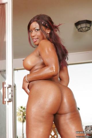 Ebony babe stacie lane bounces her tits around 10