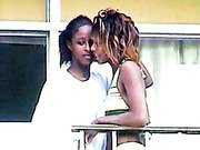 Real lesbian kiss at Myrtle Beach