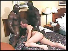 Big black gay cocks in white mouth