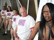 Taylor Starr in Black gang bang video.