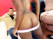 Sexy ebony babe Erika Vution
