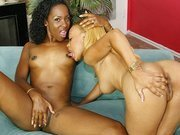 Young lesbians licking each other