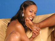 Nyomi Banxxx and Misty Stone sucking toes