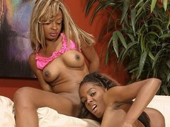 Vixen Fyre and Dena Caly using toys