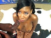 Ebony belle Rane Revere gets a lot of cumshot