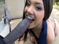 Superb Catalina Taylor sucks cock