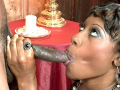 Cherokee sucked and swallows cum