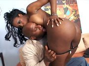 Black pornstar Nyomi Banxxx