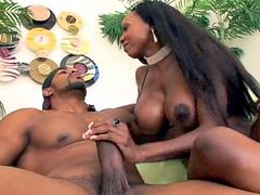 Diamond Jackson wants to suck your cock but first she's going to make you suffer, she sure is going to tease you with one of the sweetest black pussies and huge black breasts you'll eve see. If you play your cards right you might end up getting more than