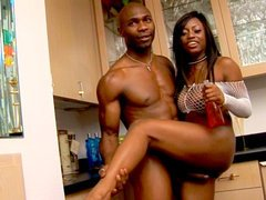 Jada Fire's been lusting for big black cock for a long time and now all her horny wet dreams are about to come true. She's a really whore and she's here to let this guy use her all holes and perfect black ass in any way he wants. He's spanking her ass an